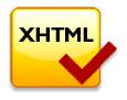 Logotipo validador de estándares de programación Web XHTML