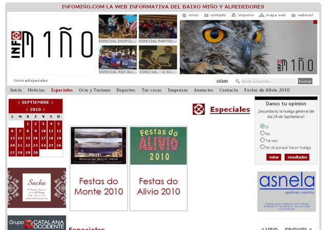 Infominho  Portal de información de la zona del Baxo Minho