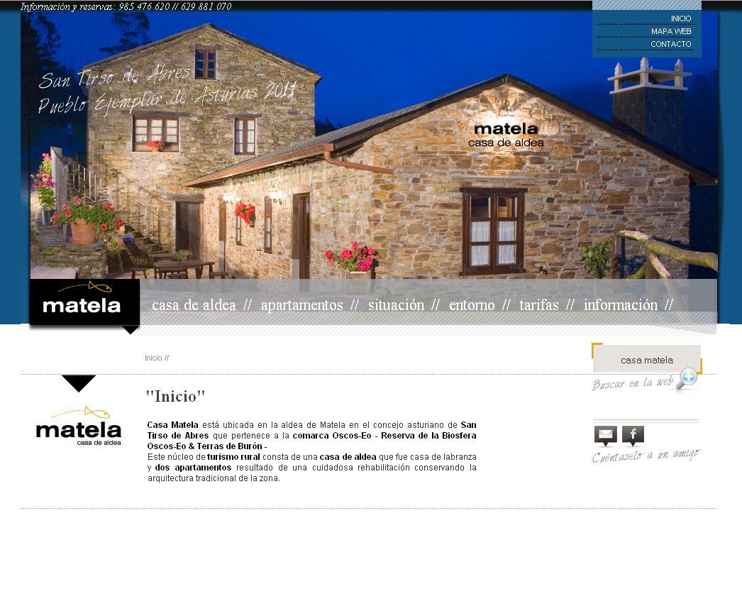Casa Matela  Sitio de la Casa Rural Matela, ubicada en el concejo de San Tirso de Abres en Asturias