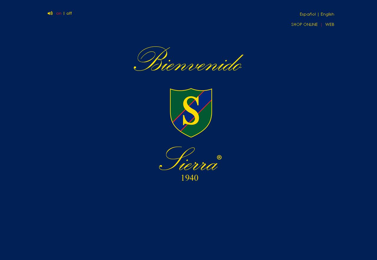 Sierra 1940  Sitio web de la empresa Sierra fundada en 1940 por D. Manuel Sierra, prestigioso profesional dentro de la camisería a medida.