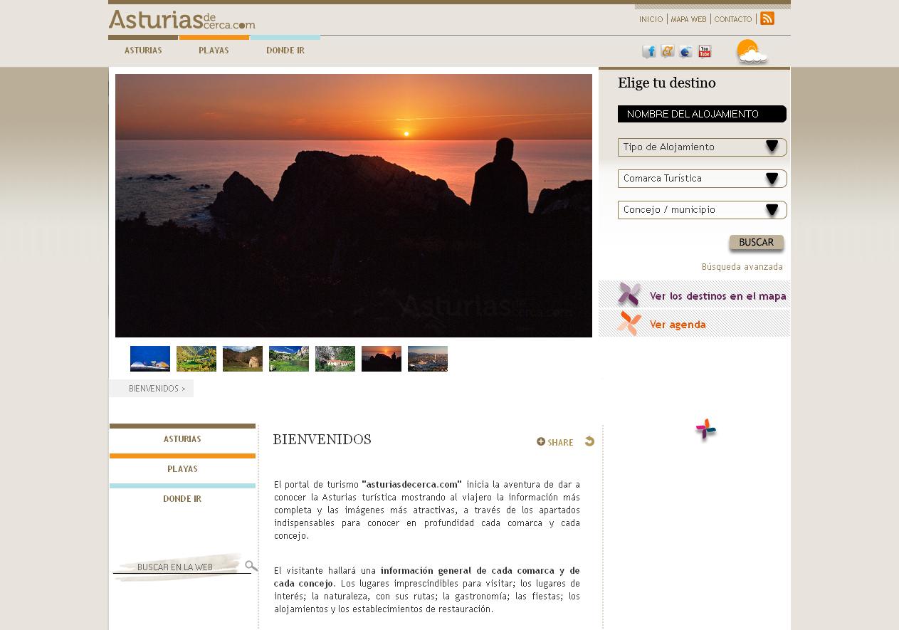 Asturias de cerca  El portal de turismo asturiasdecerca.com, inicia la aventura de dar a conocer la Asturias turística mostrando al viajero la información más completa.